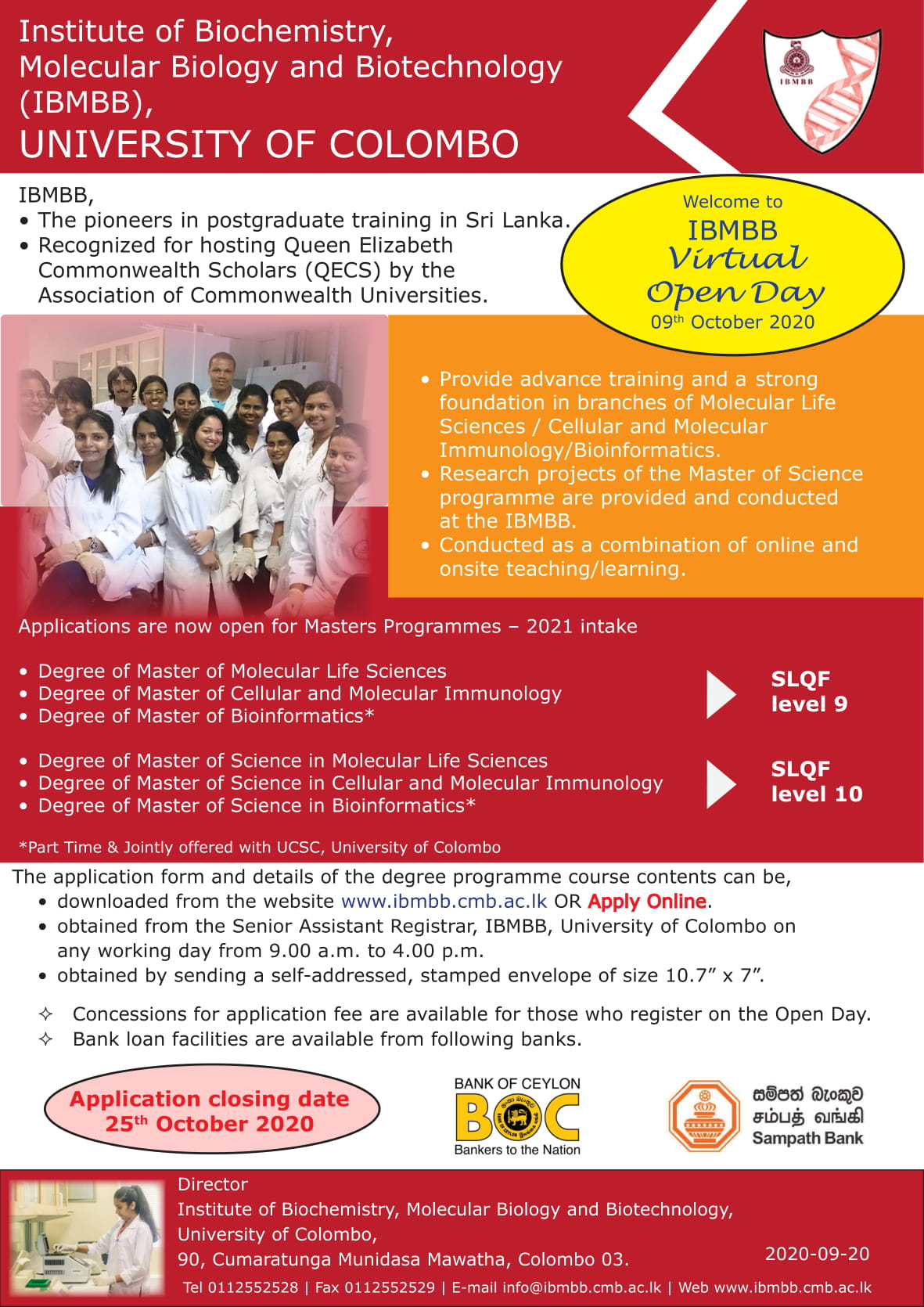 Apply for Masters Programme