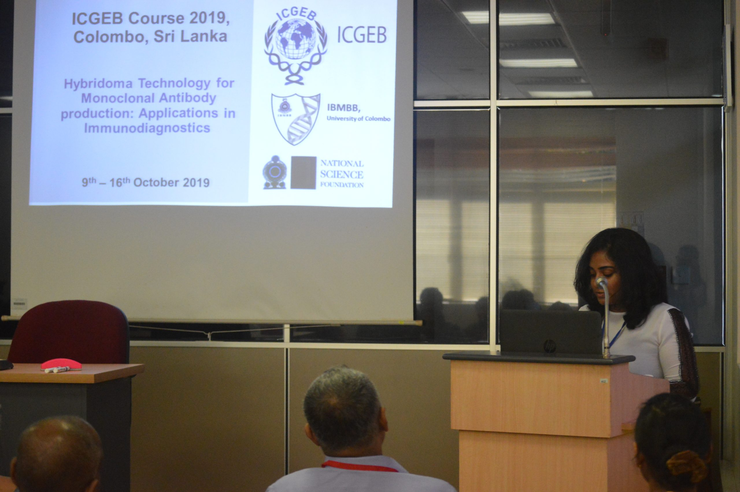 ICGEB Course 2019, Colombo, Sri Lanka 9th – 16th October 2019