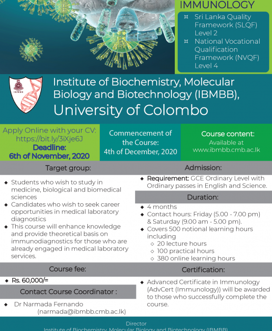 Advanced Certificate in Immunology